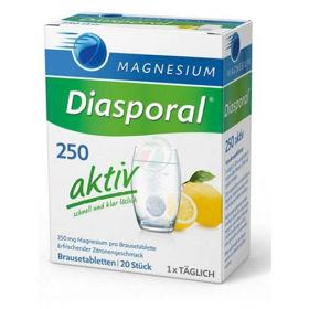 PictureMagnesium Diasporal 250 Aktiv, 20 effervescent tablets